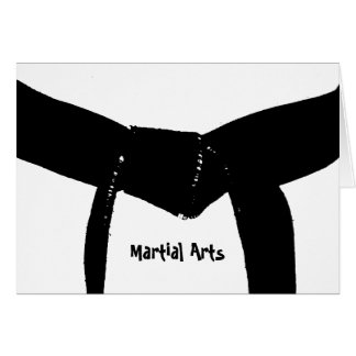 Martial Arts Black Belt Card