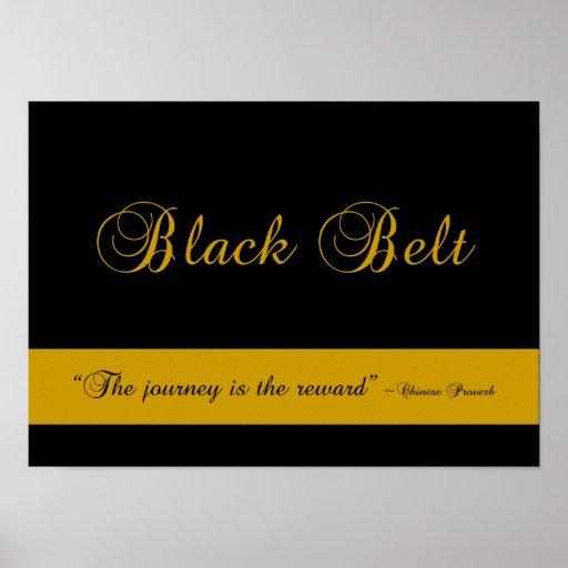Martial Arts Black Belt Journey Poster Print