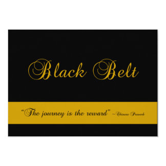 Martial Arts Black Belt Journey Promotion Test 13 Cm X 18 Cm Invitation Card
