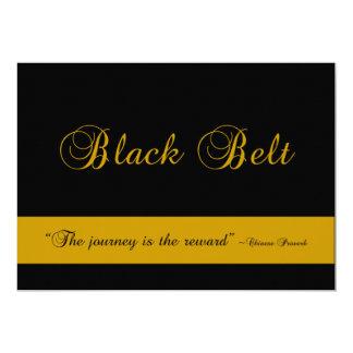 Martial Arts Black Belt Journey Promotion Test Card