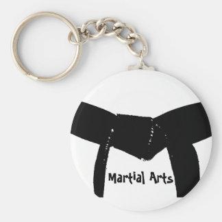 Martial Arts Black Belt Keychain