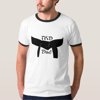 Martial Arts Black Belt TKD Dad T-Shirt