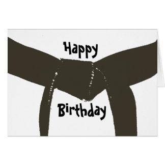 Martial Arts Brown Belt Birthday Card