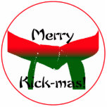 Martial Arts Christmas Ornament Cut Outs