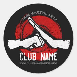 Martial Arts Club Classic Round Sticker