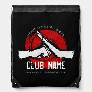 Martial Arts Club Drawstring Bag