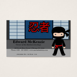 Martial Arts Doju Business Card