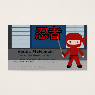 Martial Arts Doju Business Card