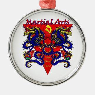 Martial Arts Double Dragon Ornament
