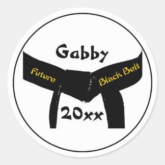 Martial Arts Future Black Belt Stickers