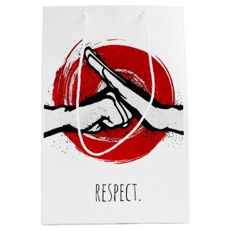 Martial Arts Greeting - White Medium Gift Bag