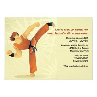 Martial Arts Guy Invitation