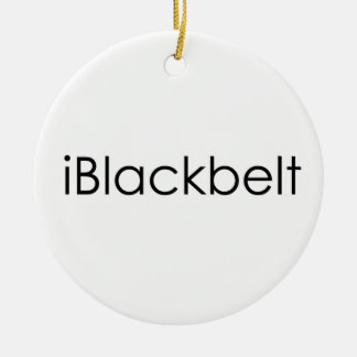Martial Arts iBlackbelt Ceramic Ornament