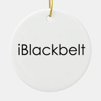 Martial Arts iBlackbelt Round Ceramic Decoration