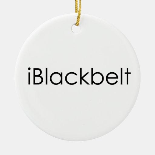 Martial Arts iBlackbelt Round Ornament