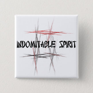Martial Arts Indomitable Spirit 15 Cm Square Badge
