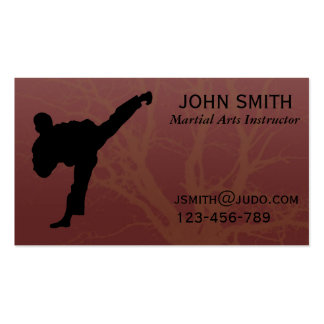 Martial Arts Judo / Karate /Tae Kwon Do Instructor Business Card Templates