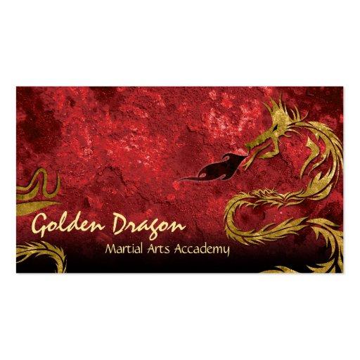 Martial Arts Karate Business Card Golden Dragon