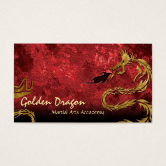 Martial Arts Karate Business Card Golden Dragon