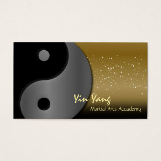 Martial Arts Karate Business Card Yin Yang