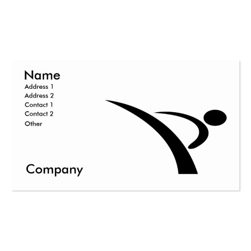 Martial Arts/Karate Instructor Business Card Template