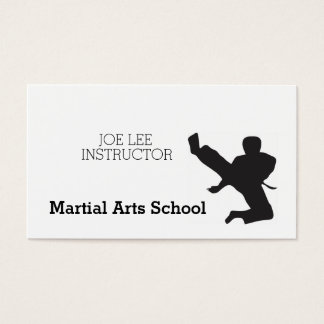 Martial Arts Karate Self Defense Business Card