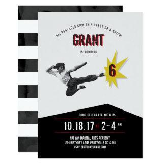Martial Arts Kung Fu Karate  Birthday Invitation