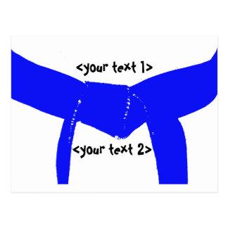 Martial Arts Light Blue Belt Postcard