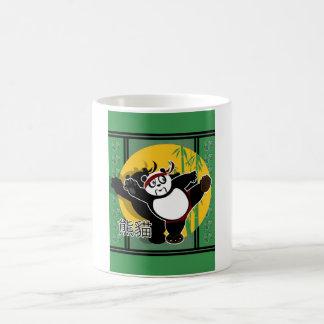 Martial Arts Panda - Green Coffee Mugs