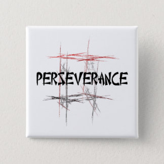 Martial Arts Perseverance 15 Cm Square Badge