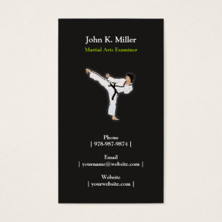 Martial Arts Personal Trainer Business  Card