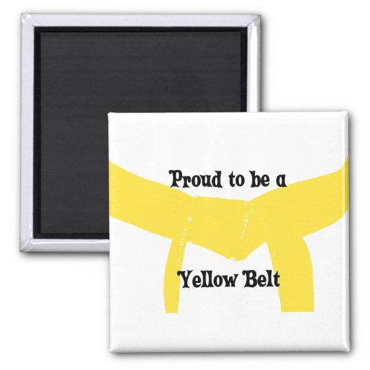 Martial Arts Proud to be a Yellow Belt Magnet