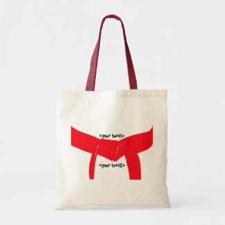 Martial Arts Red Belt Tote Bag