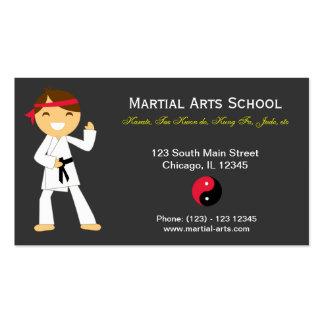 Martial Arts School Business Card Templates
