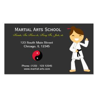 Martial Arts School Business Cards