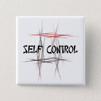 Martial Arts Self Control 15 Cm Square Badge