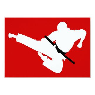 martial arts silhouette card