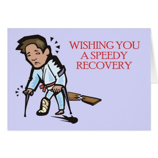 Martial Arts Speedy Recovery Greeting Card