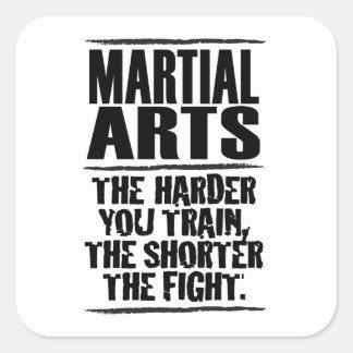 Martial Arts – The harder you train Square Sticker