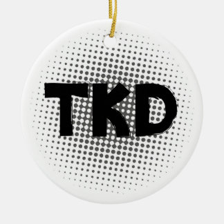 Martial Arts TKD Dots Ceramic Ornament