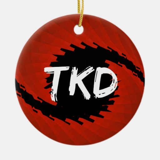 Martial Arts TKD Hurricane Round Ornament
