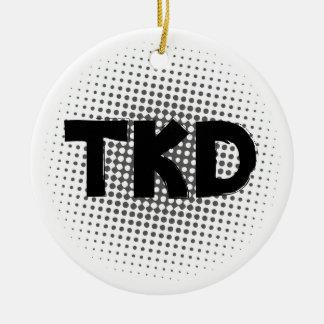 Martial Arts TKD Round Ornament