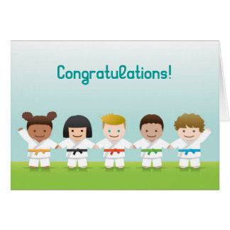 Martial Arts World Kids Congratulations Card