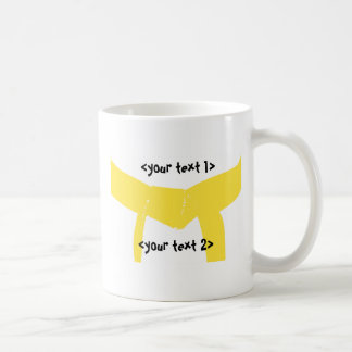 Martial Arts Yellow Belt Coffee Mug