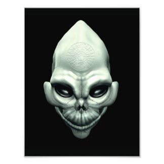 Martian Alien Extraterrestrial Outer Space Skull Art Photo