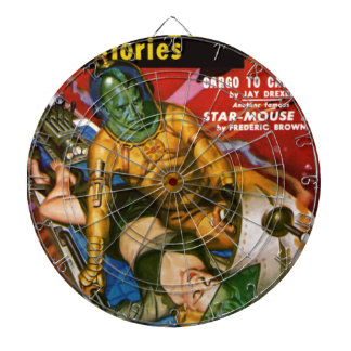 Martian and Earth Girl Dart Boards