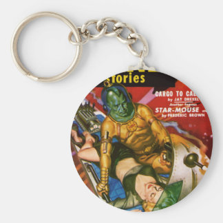 Martian and Earth Girl Key Ring