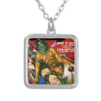 Martian and Earth Girl Silver Plated Necklace