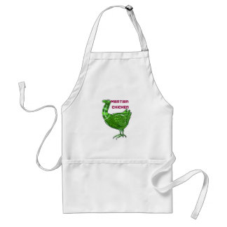 martian chicken cartoon style funny illustration standard apron