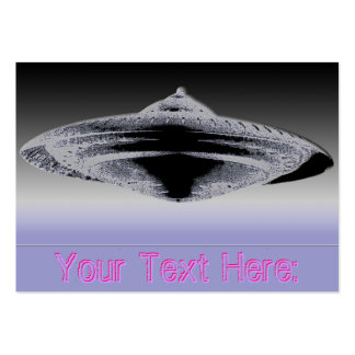 Martian Construction Contract-4890 Flying Saucer Pack Of Chubby Business Cards